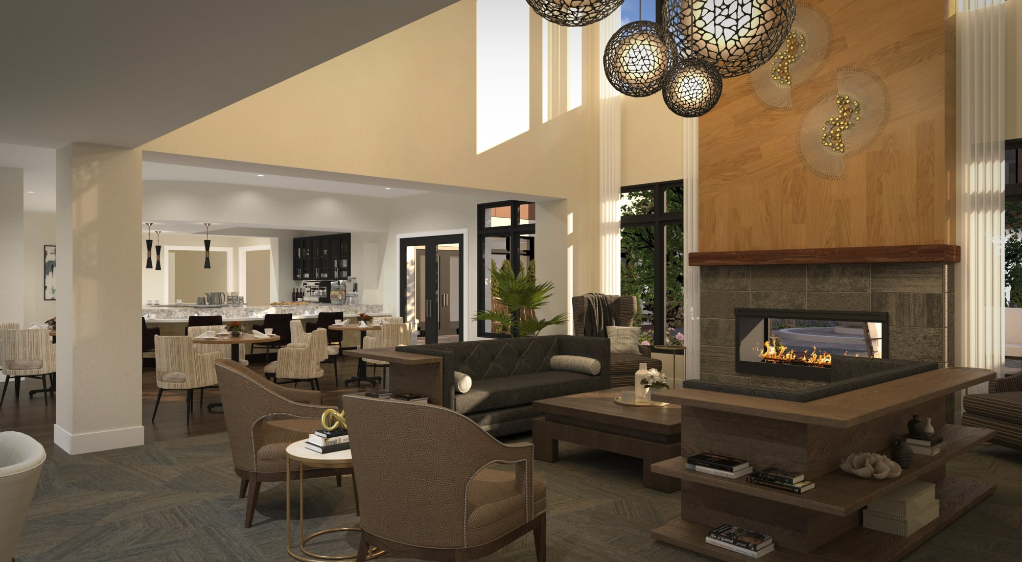 Lounge area at Maplewood at Princeton