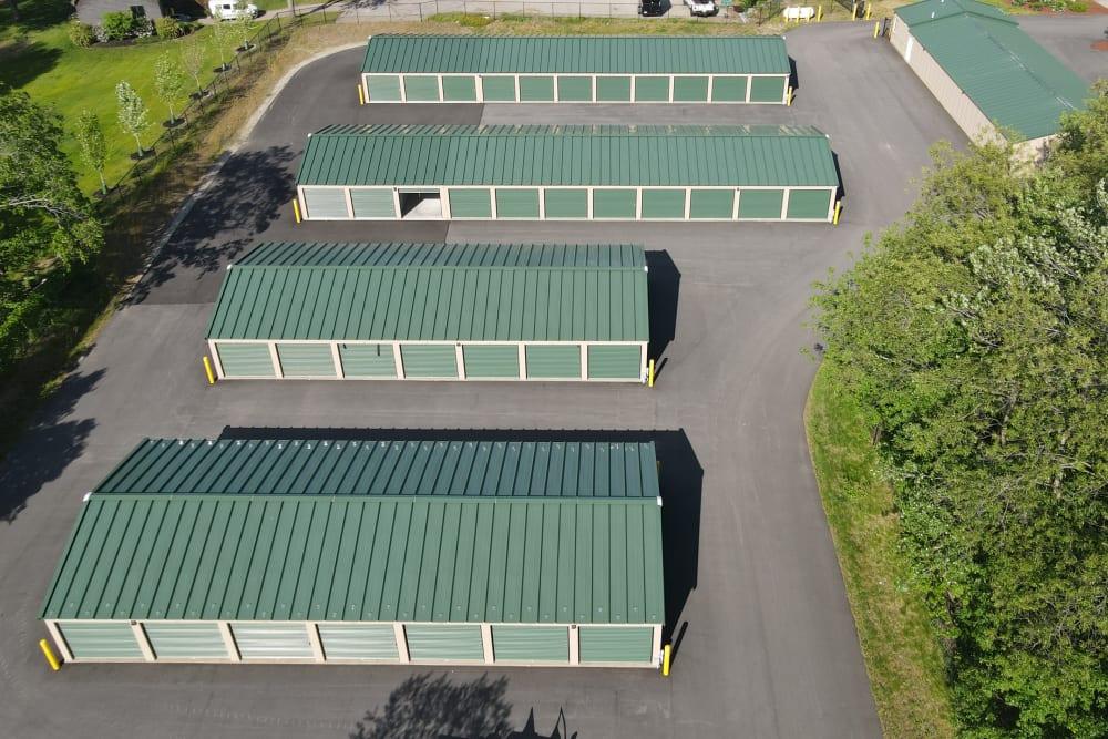 Wide alleyways at 603 Storage - East Milford in Milford, New Hampshire