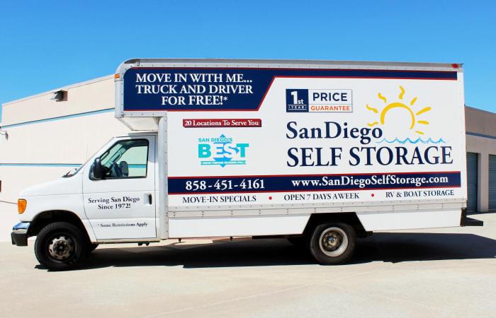 Rental truck offered from San Diego Self Storage