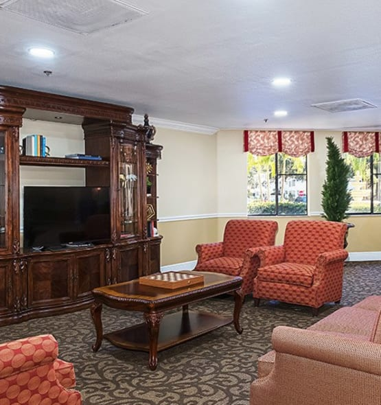 A view into the beauty and comfort our senior living community provides here at Grand Villa of Dunedin in Florida