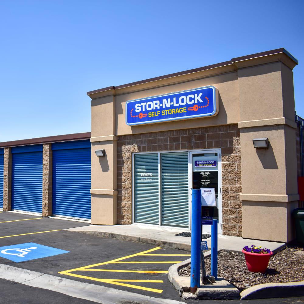 The front door at STOR-N-LOCK Self Storage in Riverdale, Utah
