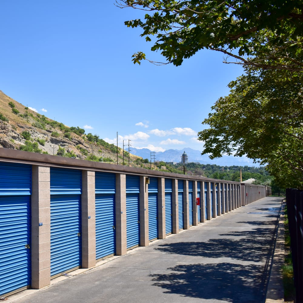 View the convenient drive-up storage offered at STOR-N-LOCK Self Storage in Salt Lake City, Utah