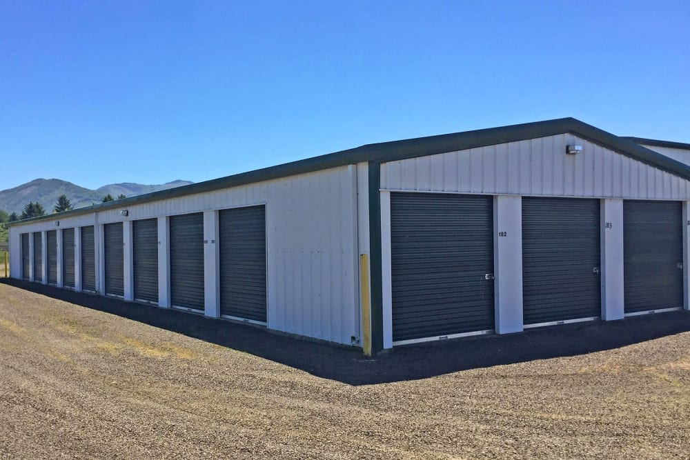 A storage unit building at Port Storage in Tillamook, Oregon