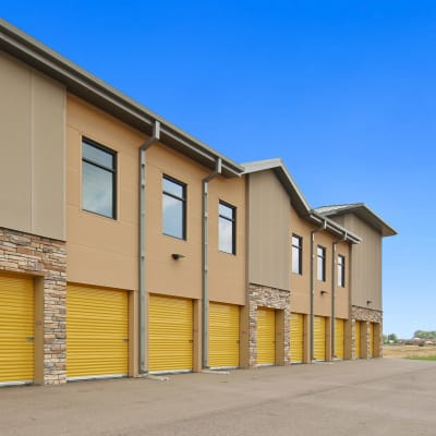 Outdoor ground floor units at Storage Star South College in Fort Collins, Colorado