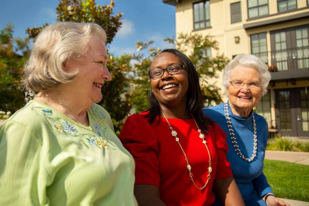 Friends spending time together at senior living in Huntington Beach