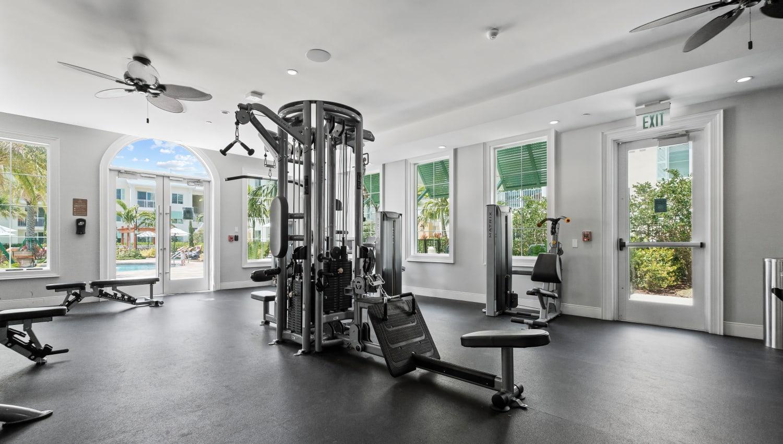 Spacious state-of-the-art fitness center at Town Lantana in Lantana, Florida