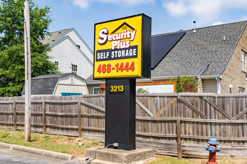 Our sign out front of SecurityPlus Self Storage in Virginia Beach, Virginia