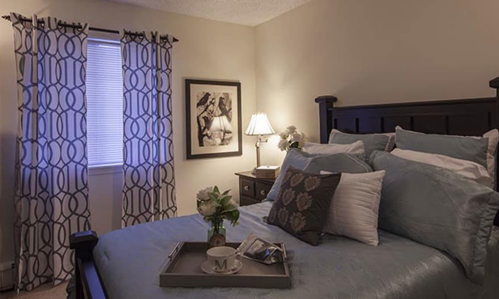 Master bedroom at Waltonwood Carriage Park