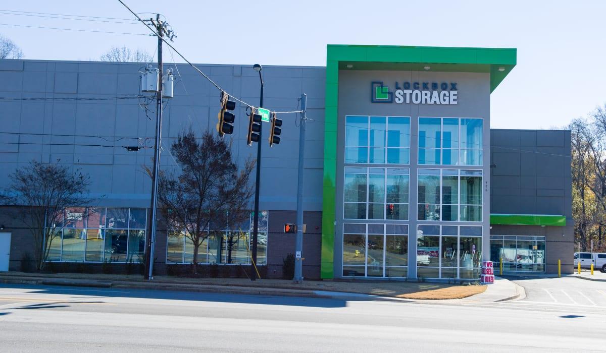Outside of LockBox Self Storage in Greenville, South Carolina