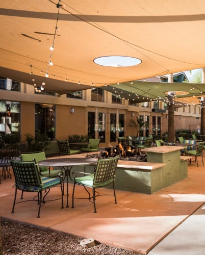 Community Patio At McDowell Village In Scottsdale, Arizona