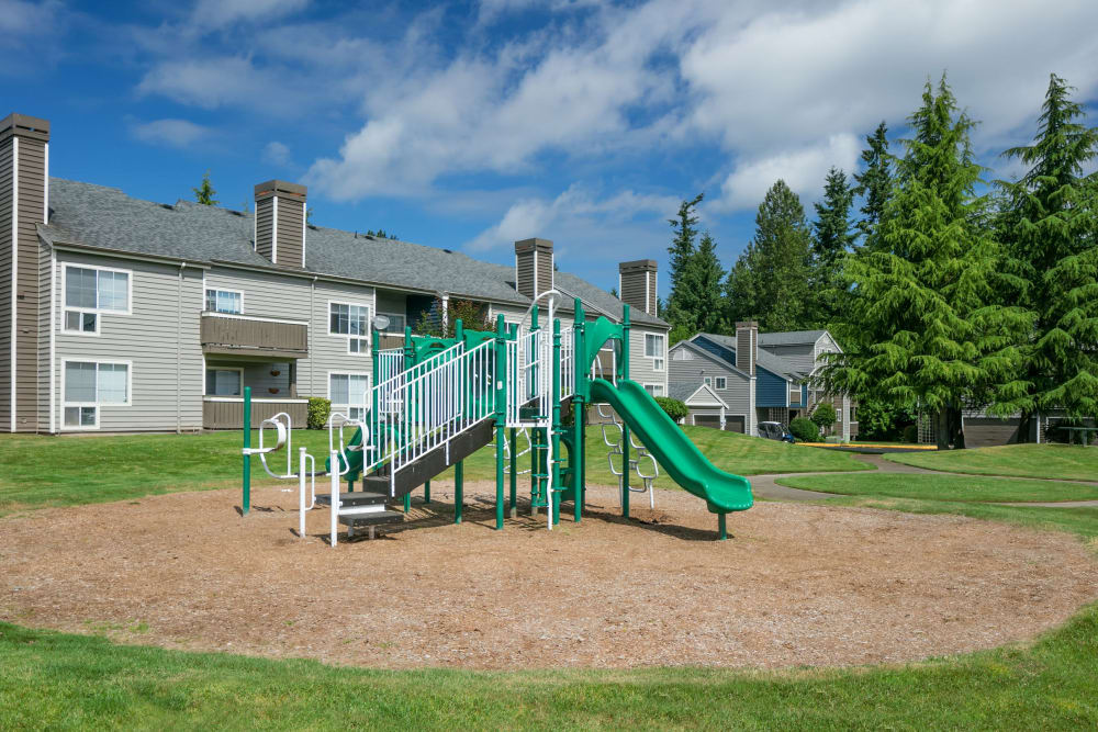 An onsite children's playground at The Carriages at Fairwood Downs in Renton, Washington