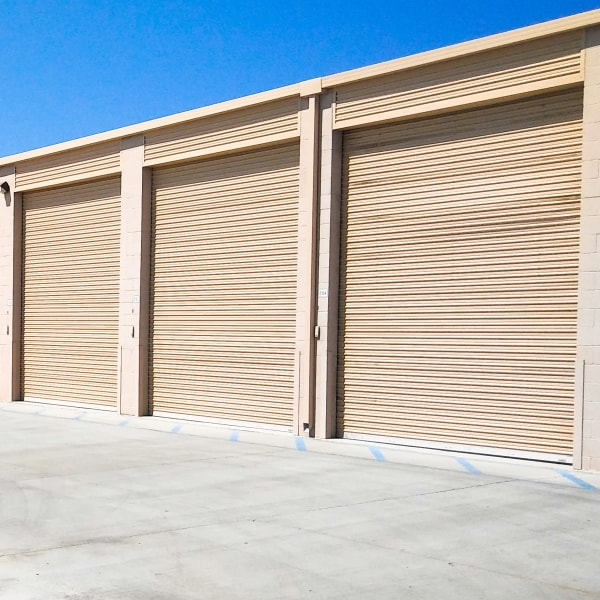 Climate controlled outdoor storage units at StorQuest RV/Boat and Self Storage in Indio, California