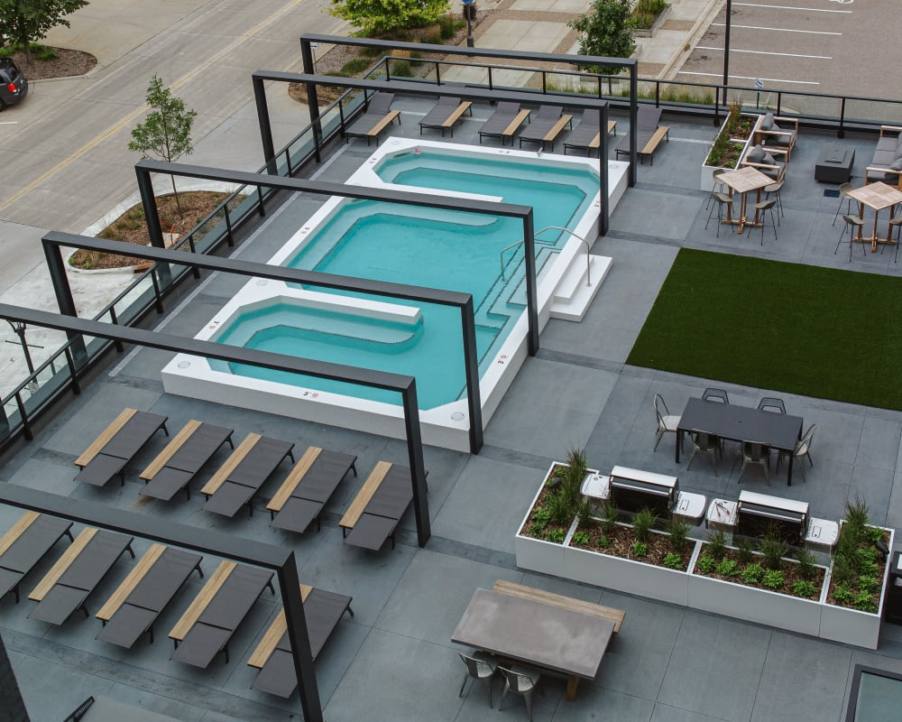 Spa deck at The Maven on Broadway in Rochester, Minnesota