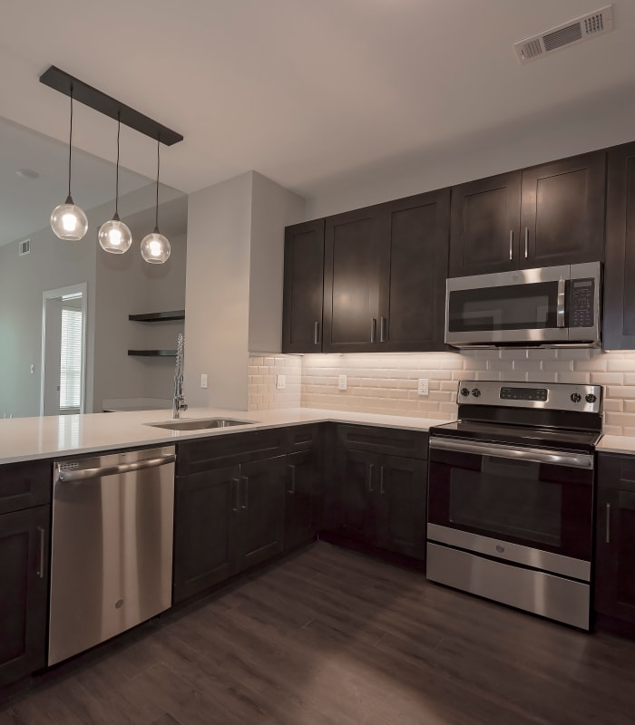 Bright kitchen at Canal1535 in New Orleans, Louisiana