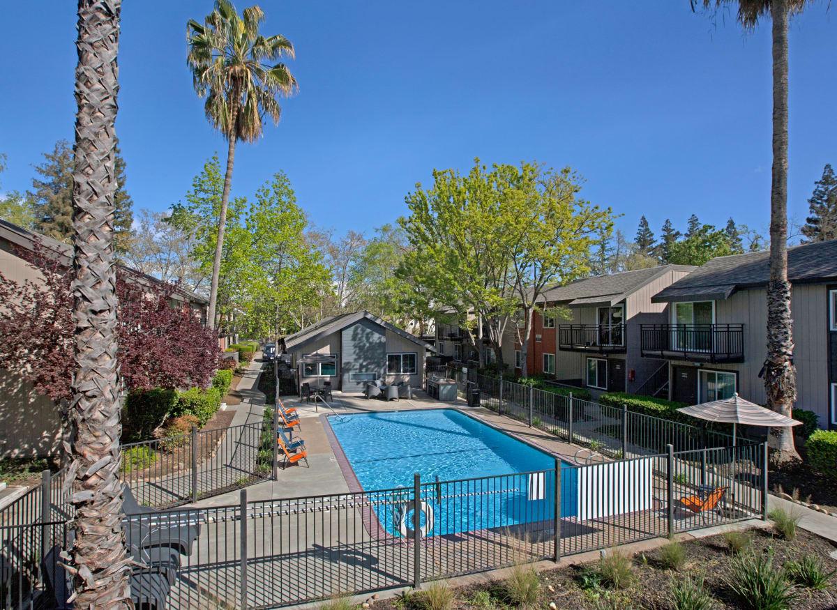 Sparkling pool of The Archer in Sacramento, California