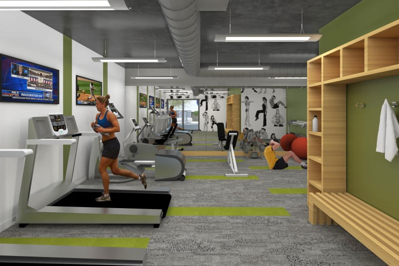 Stay healthy in the 1400 Fig fitness center in Los Angeles, California