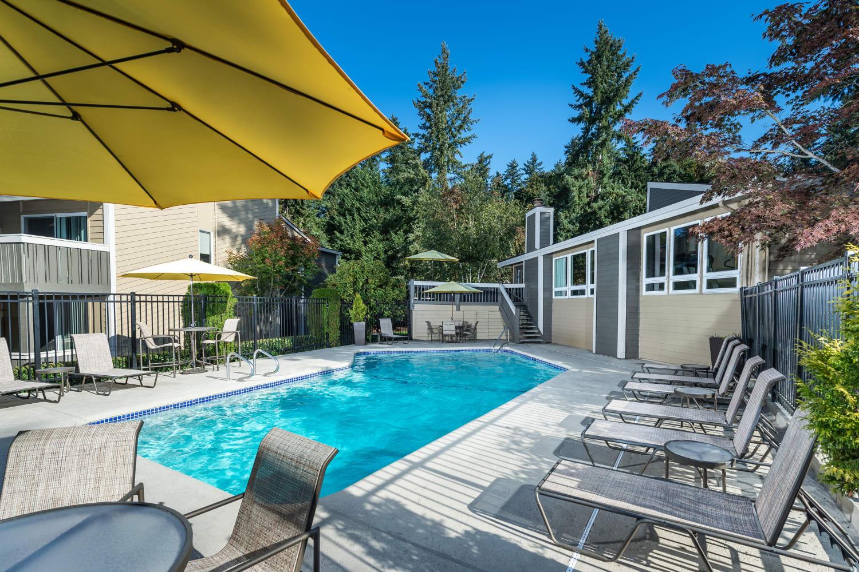 Swimming pool at The VUE in Kirkland, Washington