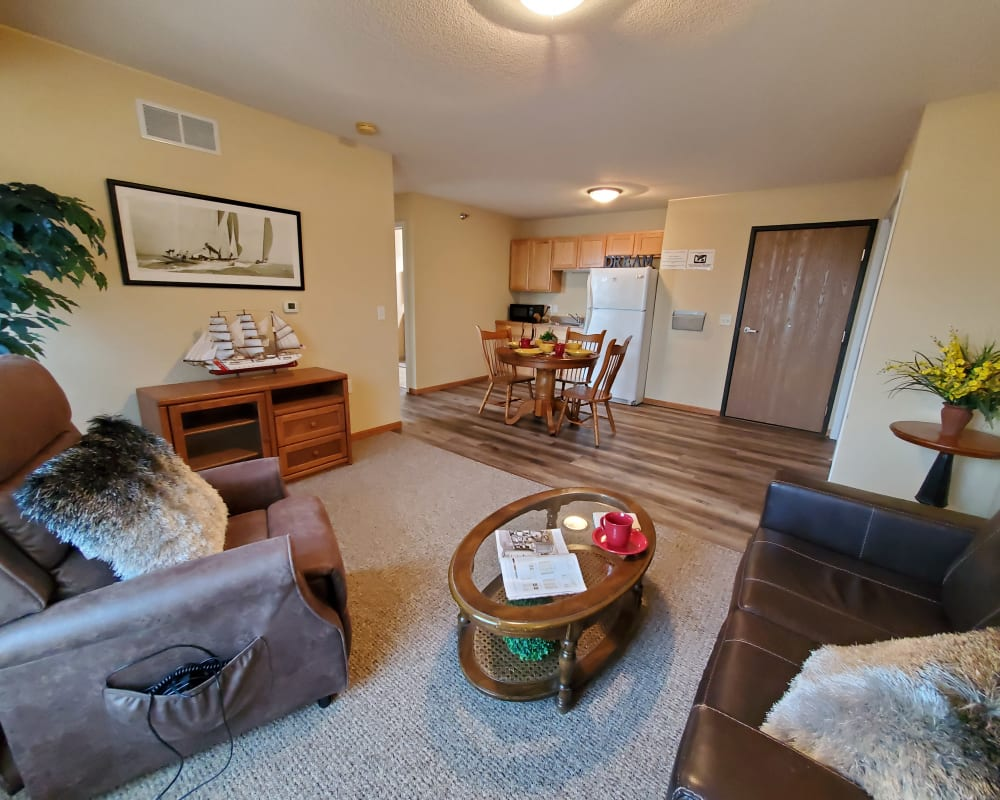 Independent living apartment at The Lakeside Village in Panora, Iowa.