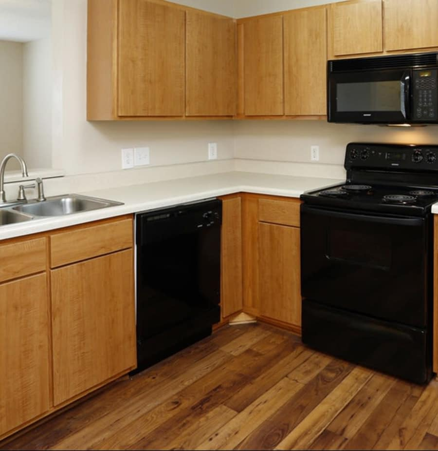 Spacious kitchen at Park at Clearwater in Aberdeen, North Carolina