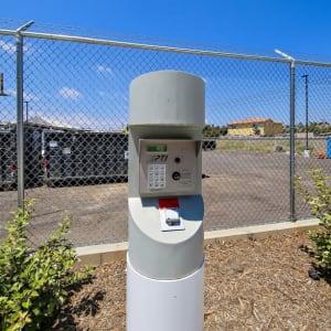 Secure keypad entry at A-1 Self Storage in San Diego, California