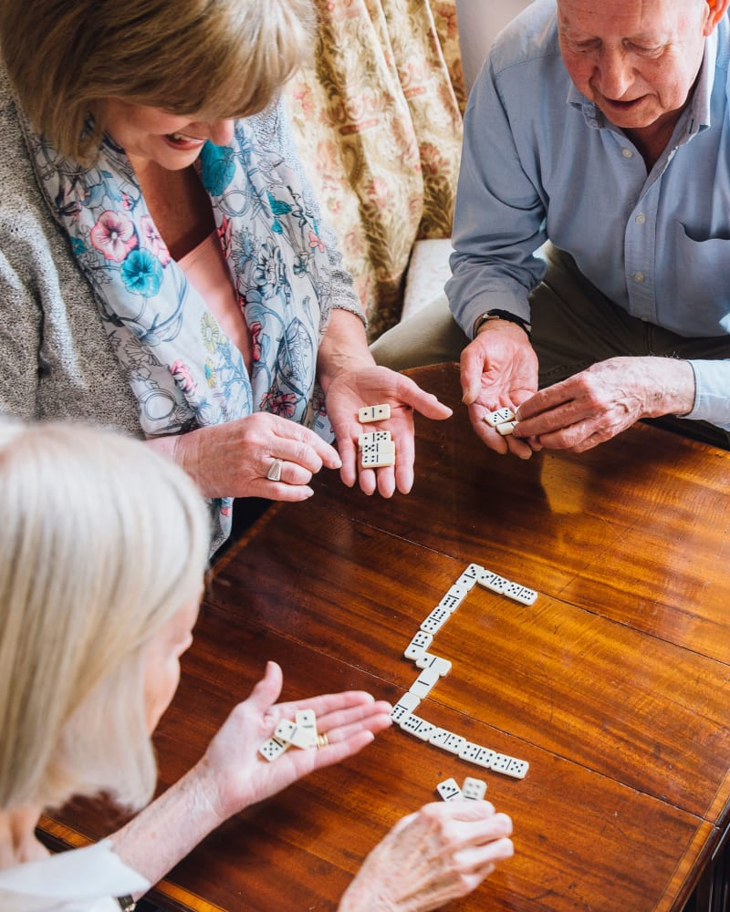 Residents playing majong at Randall Residence of Centerville in Centerville, Ohio