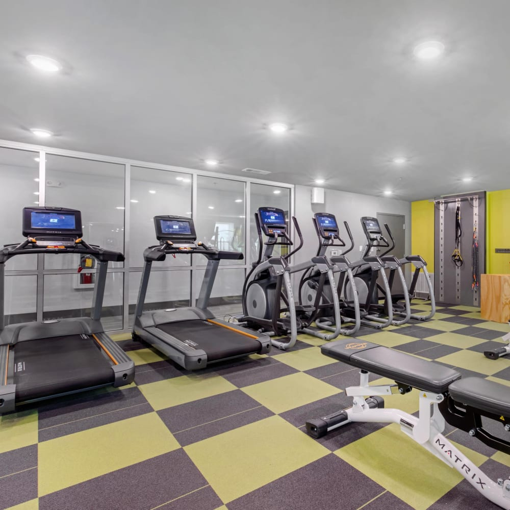 Fitness center at UNCOMMON Oxford in Oxford, Mississippi