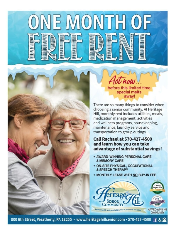 One Month Free at Heritage Hill Senior Community