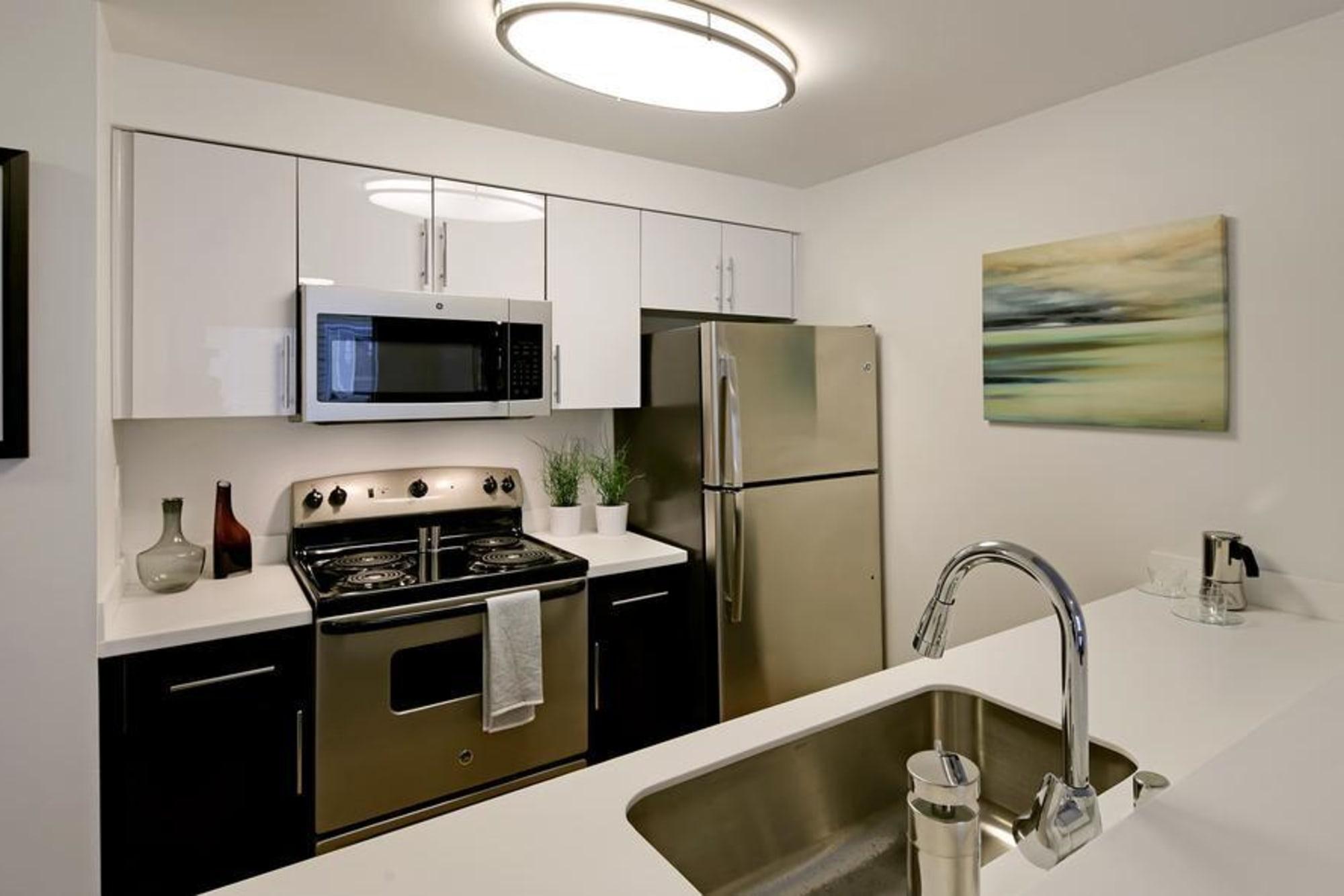 white cabinet model spec at Elan 41 Apartments in Seattle, WA
