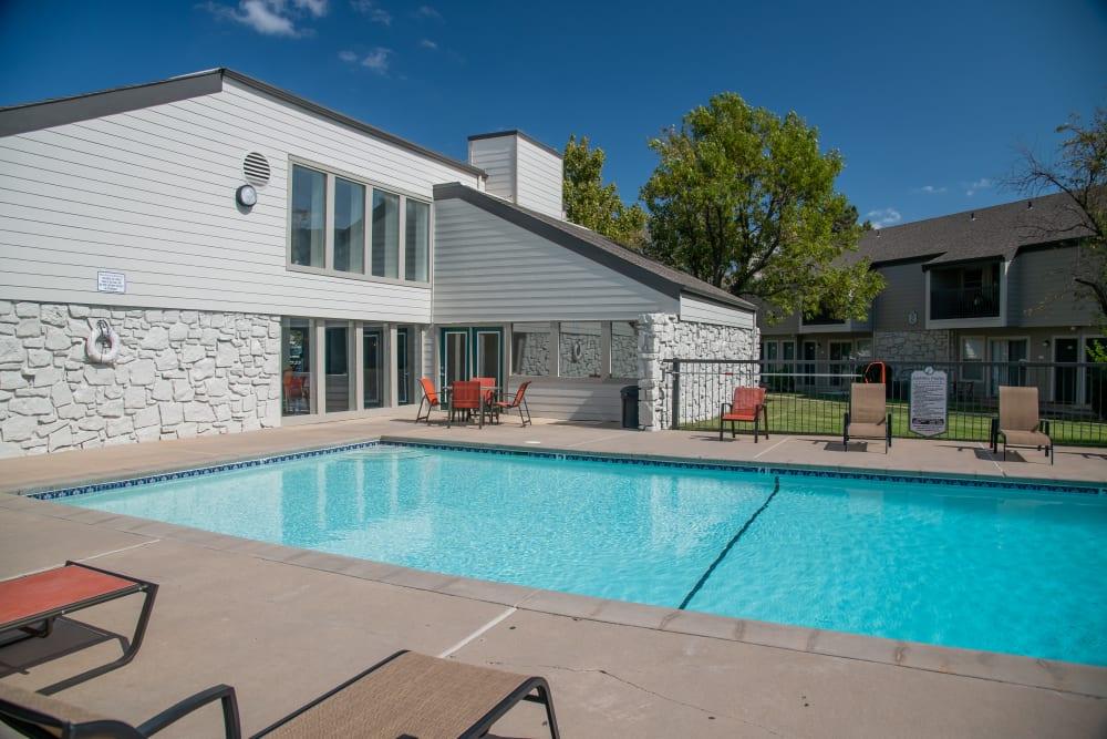Swimming pool at Aspen Park Apartments in Wichita, Kansas