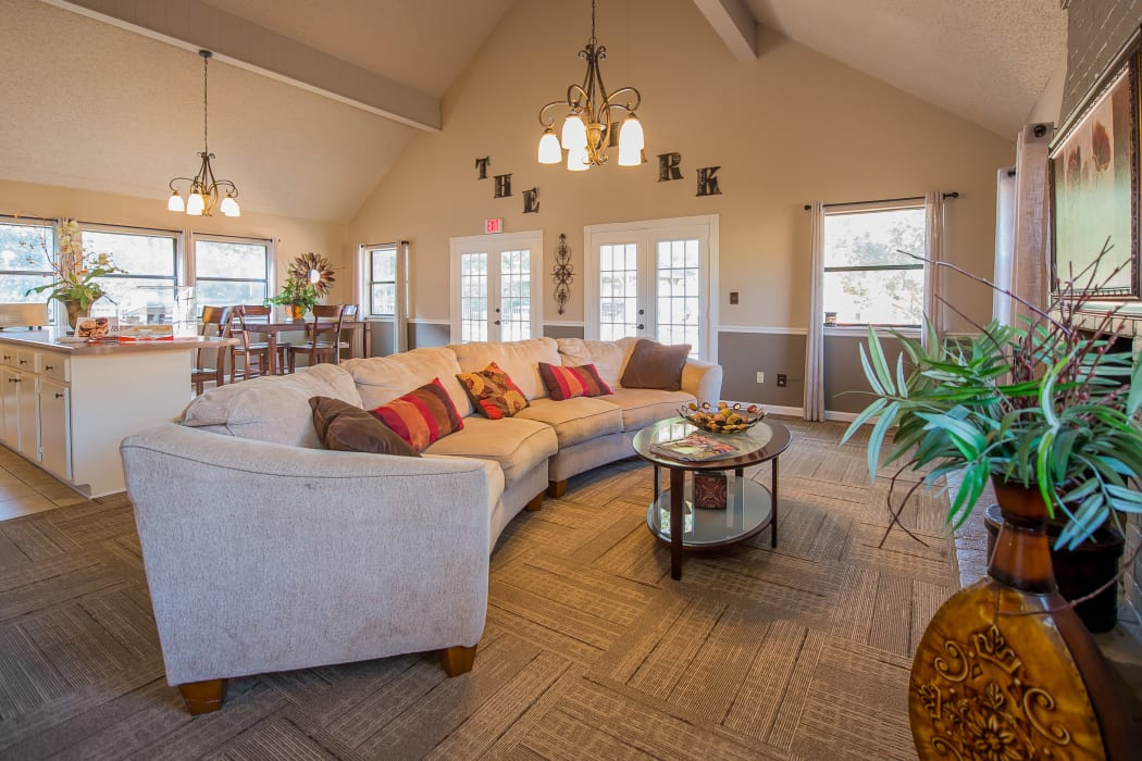 Clubhouse lounge at The Mark Apartments in Ridgeland, Mississippi