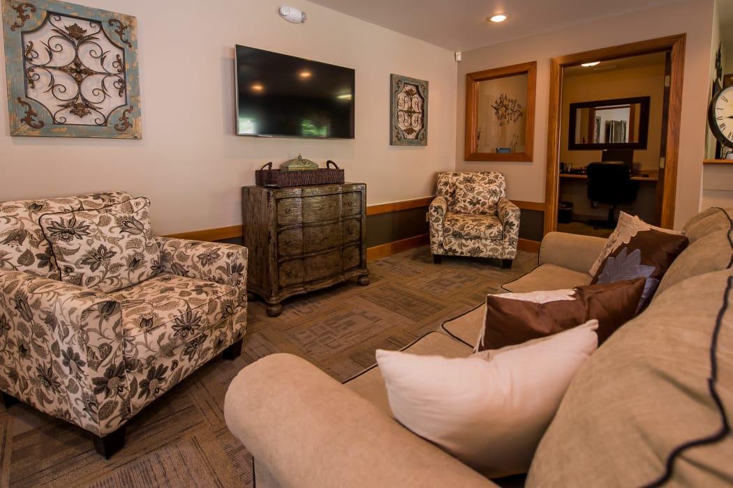 Spacious clubhouse at Huntington Park Apartments in Wichita, Kansas