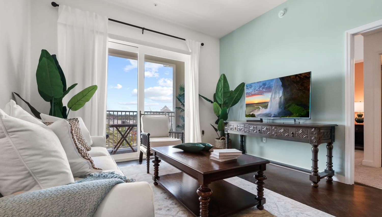 Comfortable living room at Town Lantana in Lantana, Florida