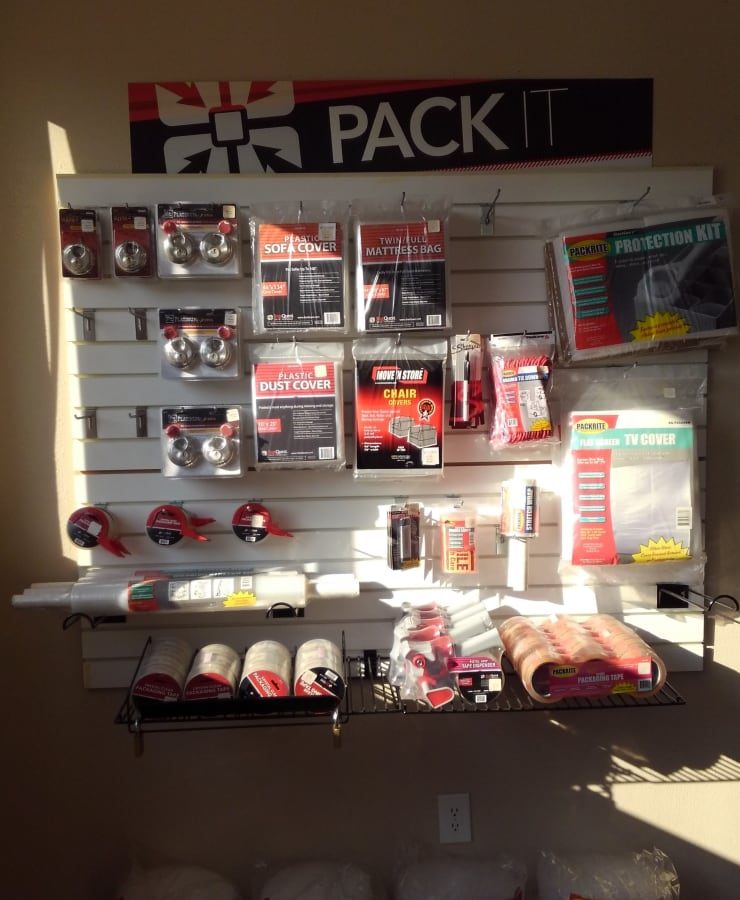 Boxes and moving supplies sold at StorQuest Self Storage in Highlands Ranch, Colorado