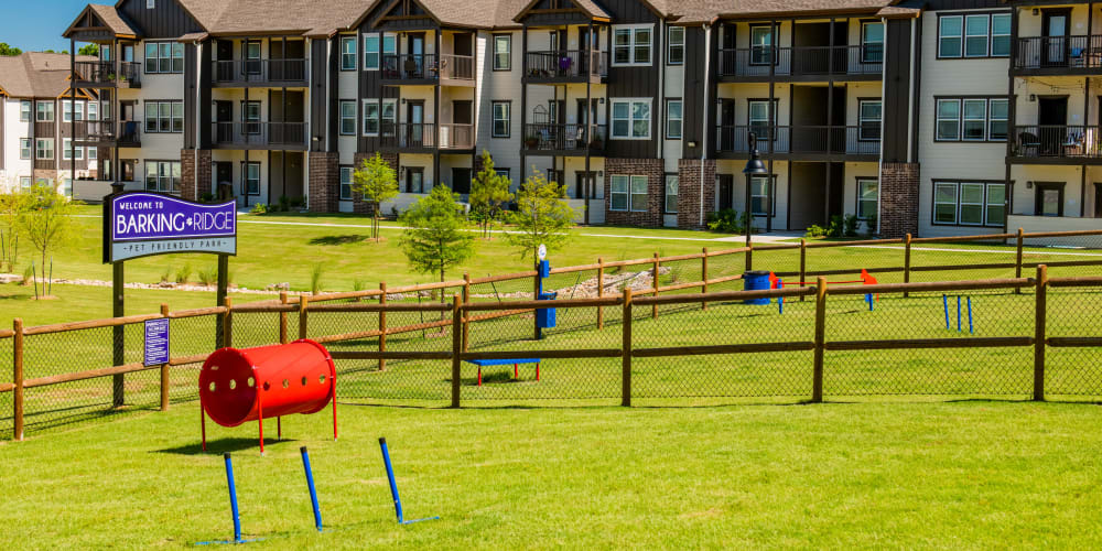 Onsite Bark Park at Cedar Ridge in Tulsa, Oklahoma