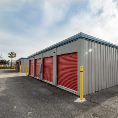 Clean exterior storage units for rent at Neighborhood Storage in Ocala, FL