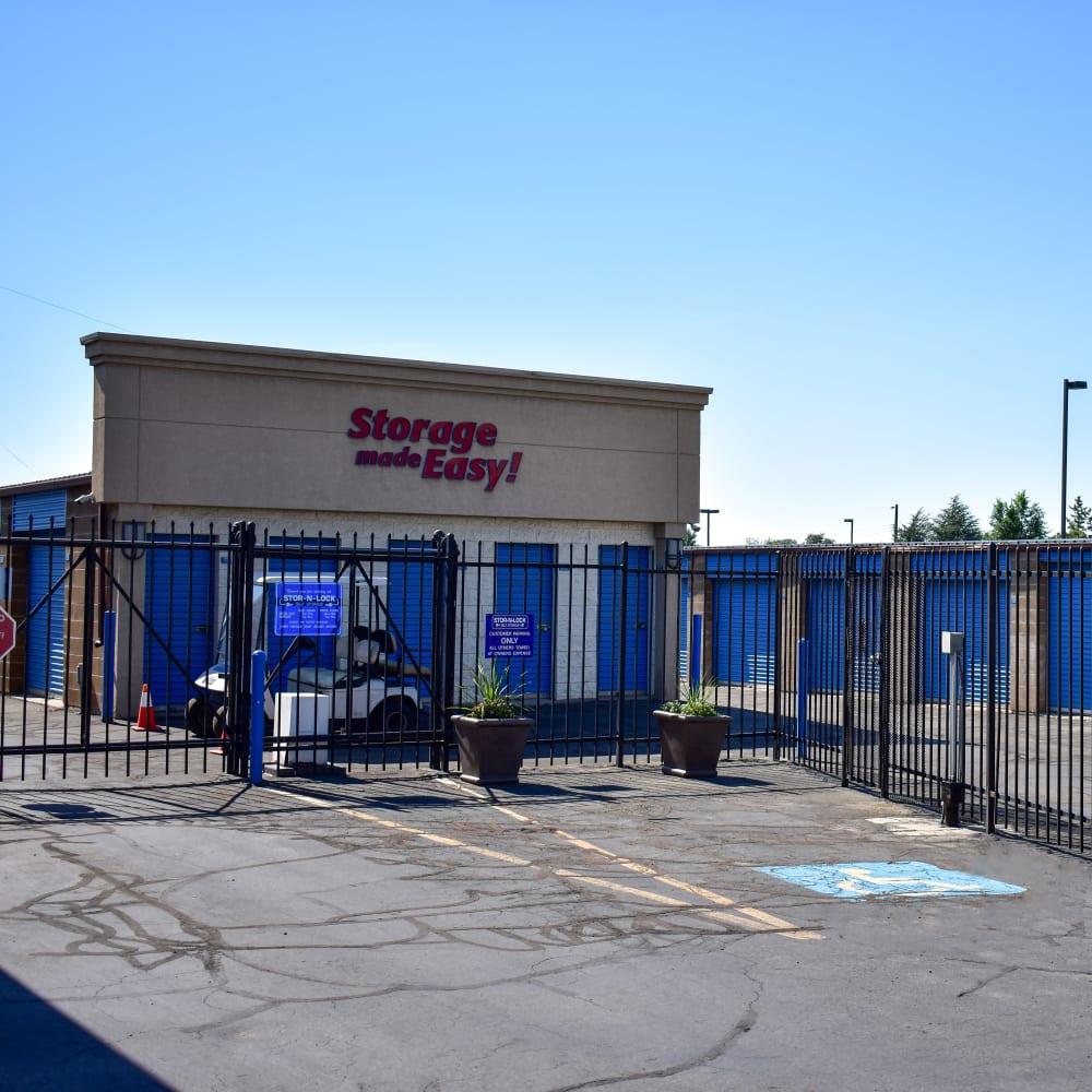 The secure front gate at STOR-N-LOCK Self Storage in West Valley City, Utah