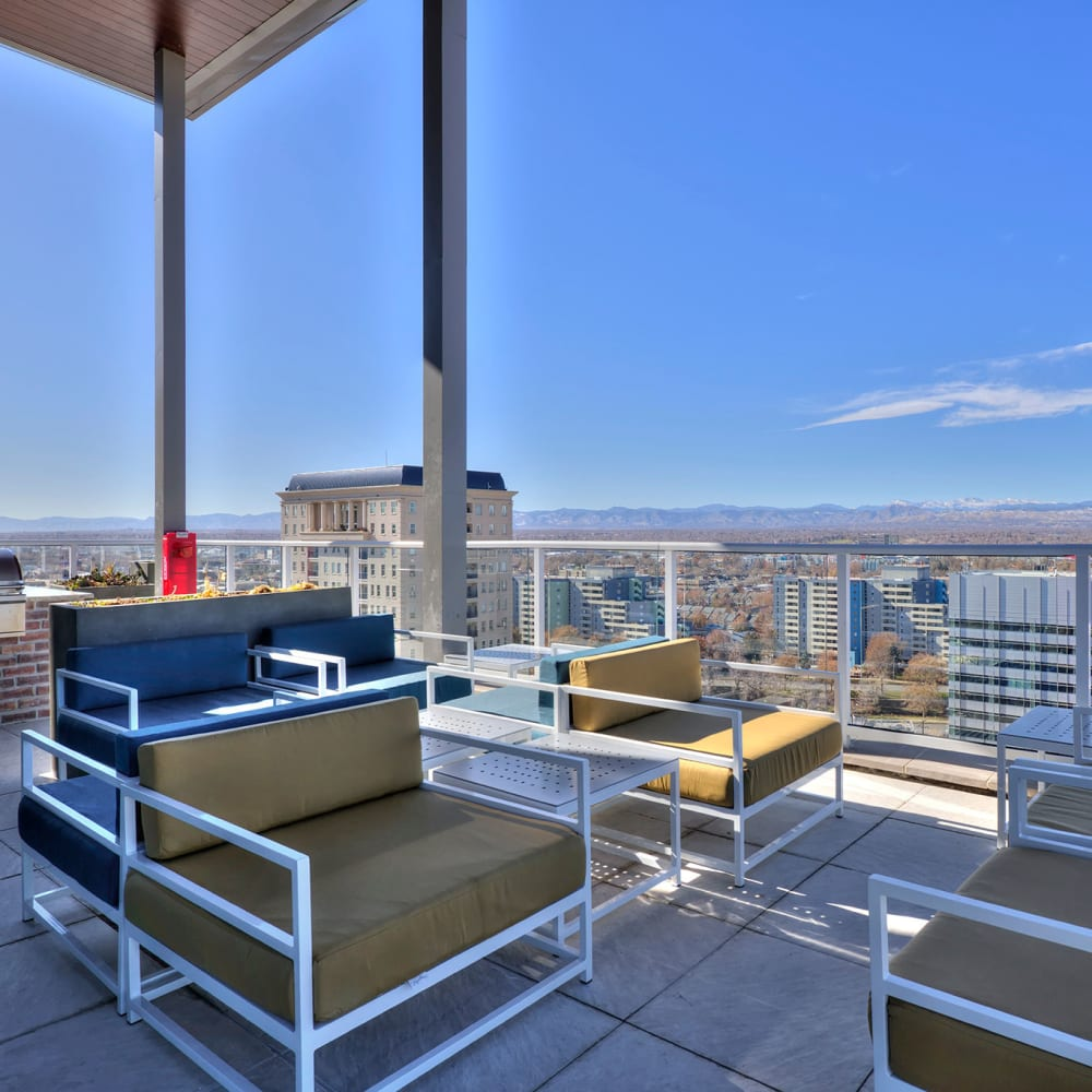 Beautiful patio views at  Civic Lofts in Downtown Denver, CO