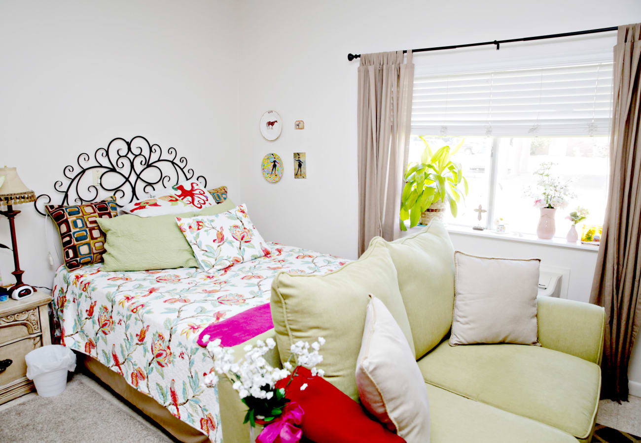 A resident bedroom at Providence Assisted Living in Cleveland, Mississippi