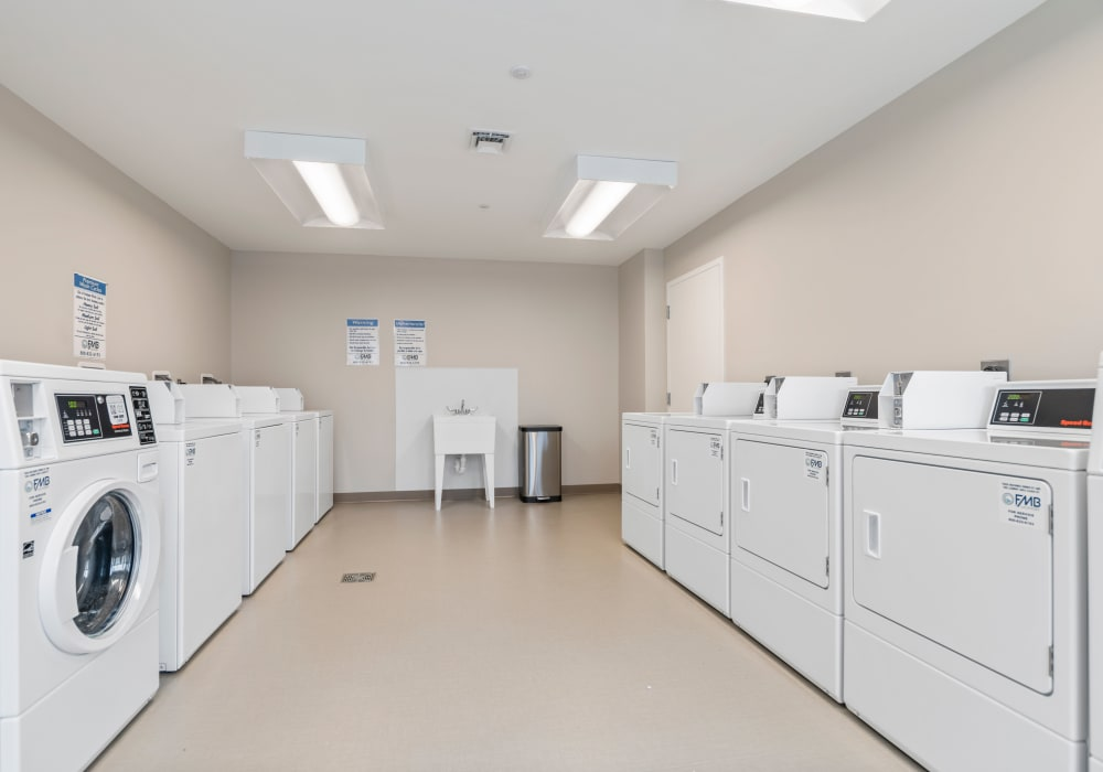 Community laundry center at The Apartments at Sharpe Square in Frederick, Maryland