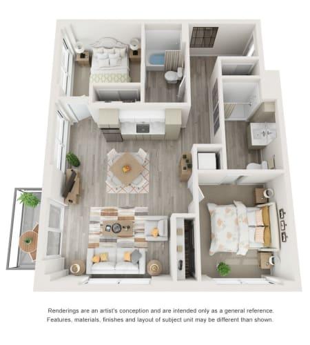 2 Bedroom Supportive Living Suite at The Vista in Esquimalt, British Columbia
