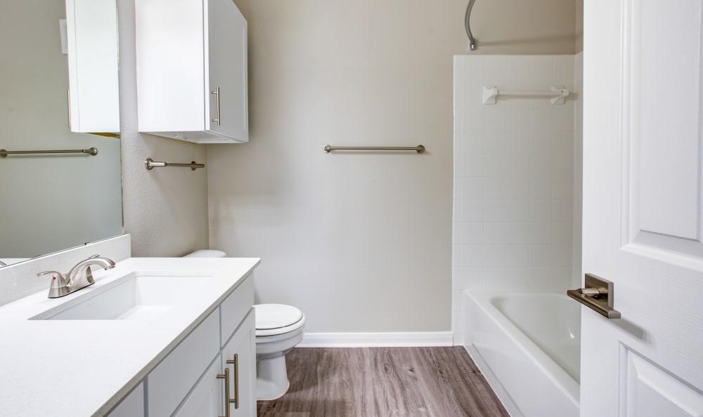 Upgraded bathroom in Austin, Texas