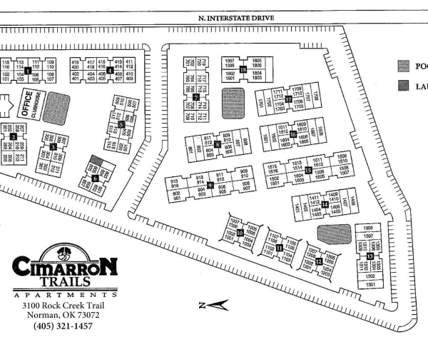 Site map for Cimarron Trails Apartments in Norman, Oklahoma