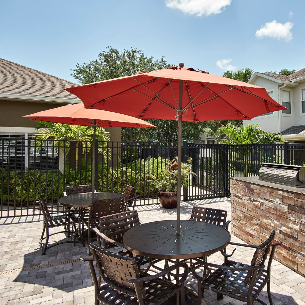 A BBQ stations at Calais Park Apartments in St Petersburg, Florida