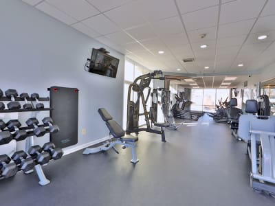 Henson Creek Apartment Homes offers a fitness center