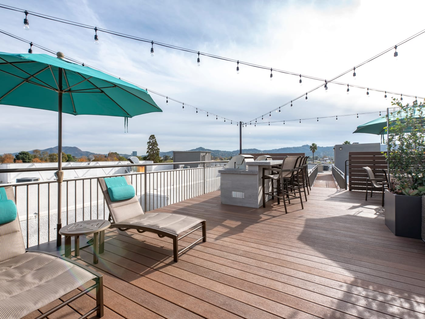 Upstairs balcony at Vue at Laurel Canyon in Valley Village, California