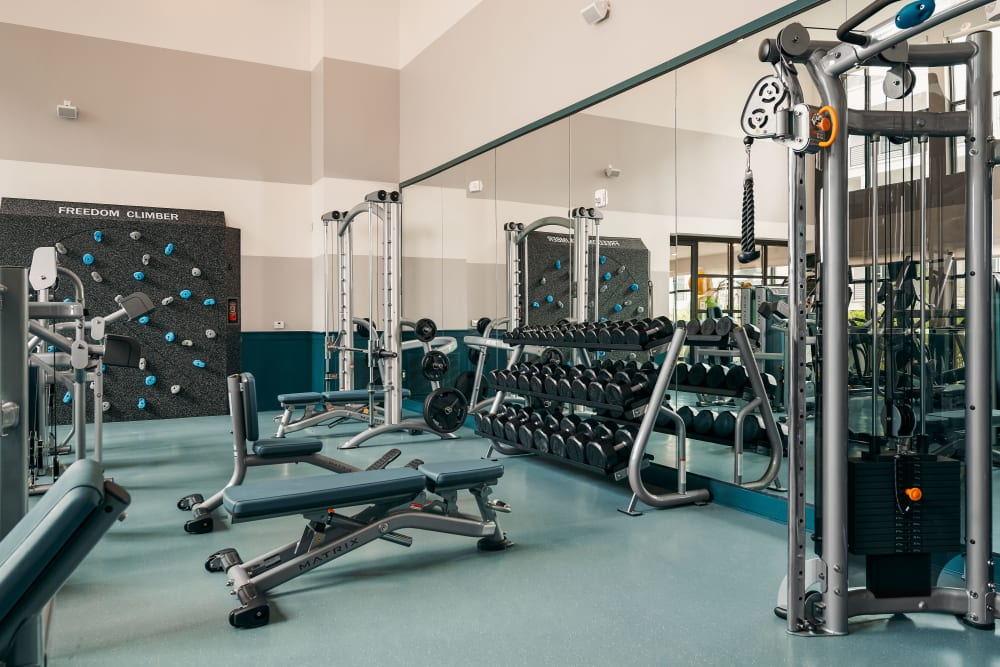 Fitness center at The Copeland in Austin