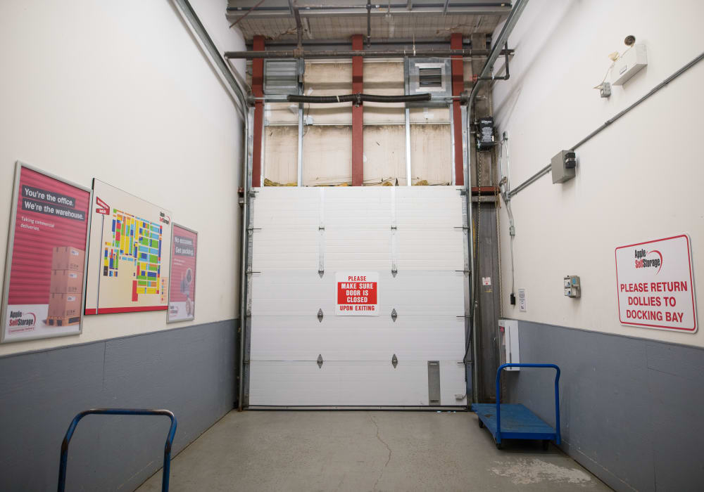 Loading area at Apple Self Storage - Newmarket in Newmarket, Ontario