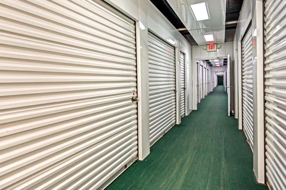 Indoor units hallway at Metro Self Storage in Wesley Chapel, Florida