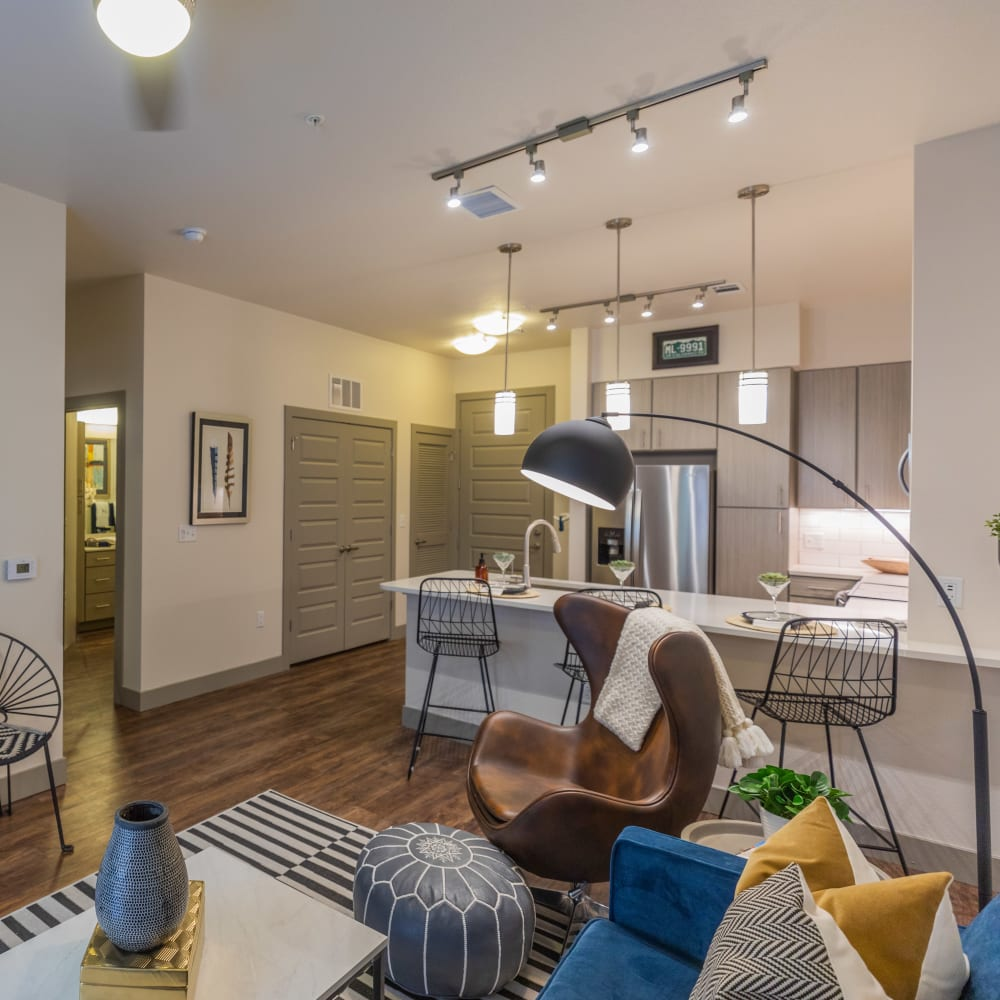 Trendy and Sophistication Living Room The Alcott in Denver, Colorado