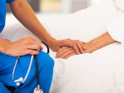 Assiting nurse at our senior living facility in Louisville, Kentucky